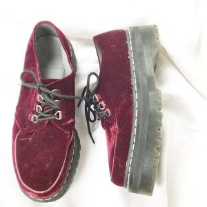 Doc Marten x Agyness Deyn Red Velvet Aggy Creeper